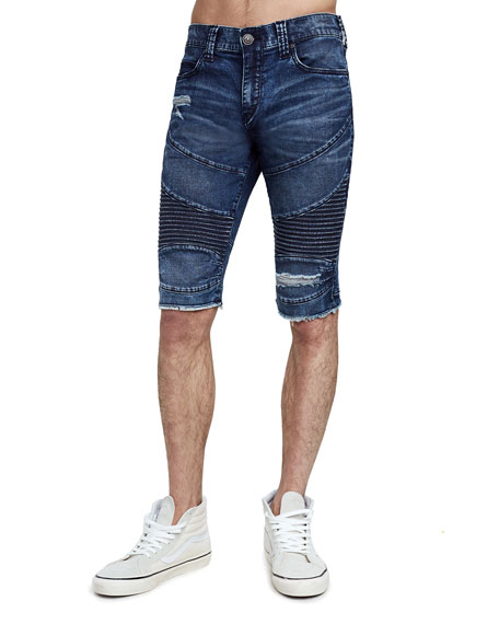 Men's Geno Moto Slim Denim Shorts