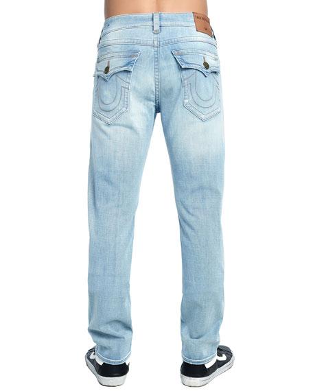 Men's Geno Distressed Slim-Straight Jeans, Jet Smoke