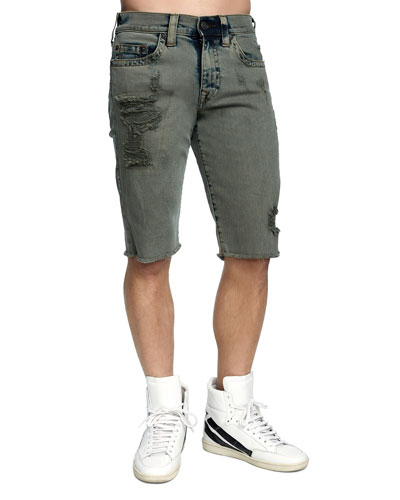 Men's Ricky Distressed Denim Shorts