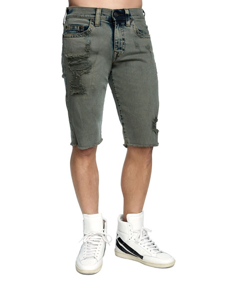 Men's Ricky Distressed Denim Shorts