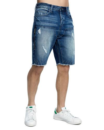 Men's Field Drop-Crotch Denim Shorts
