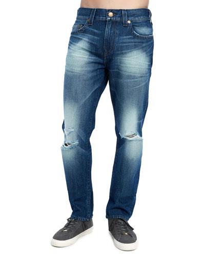 Men's Geno Distressed Straight-Leg Jeans