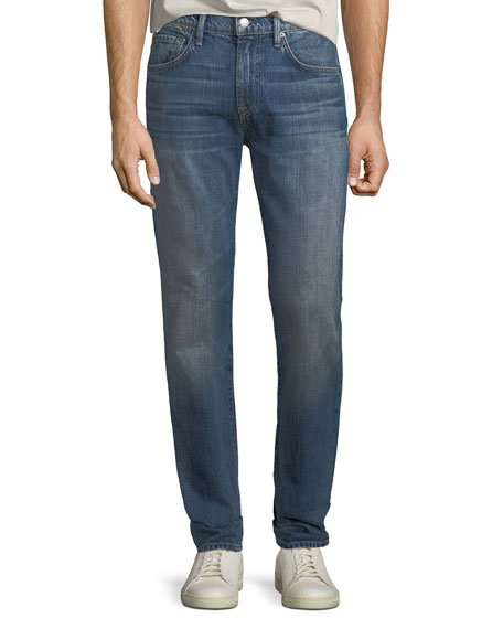 7 for all mankind Men's Adrien Straight-Leg Denim