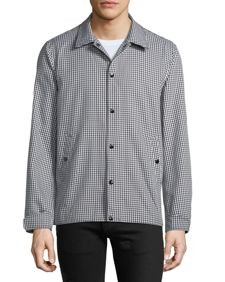 Men's Gingham Water-Resistant Coach Jacket