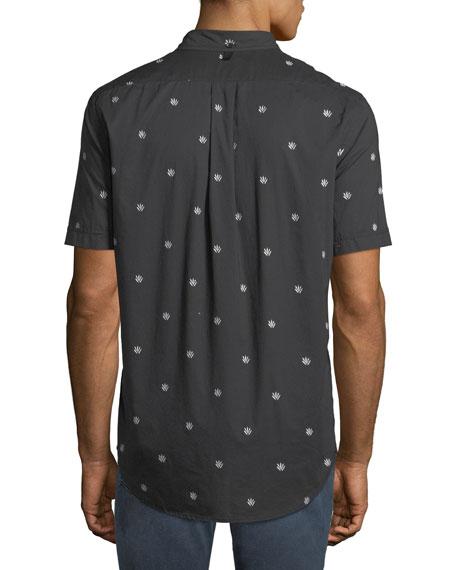 Men's Smith Dagger-Print Short-Sleeve Sport Shirt