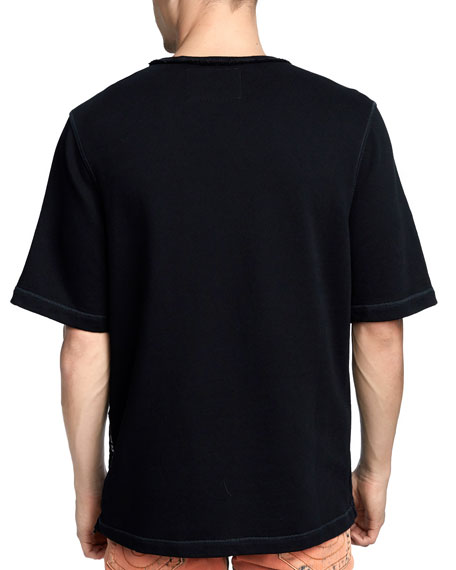 Men's Raw-Edge Logo-Zip T-Shirt