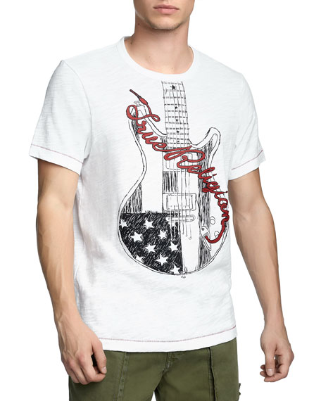 Men's Puff Guitar Logo T-Shirt
