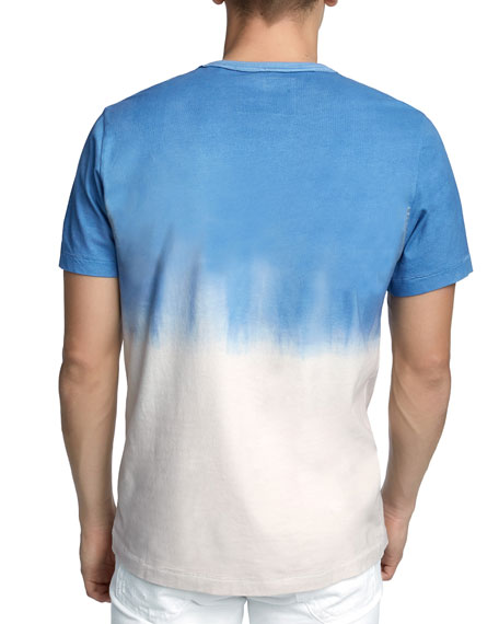 Men's Metallic Logo Dip-Dyed T-Shirt