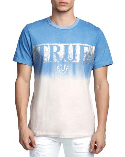 Men's Metallic Logo Dip-Dyed T-Shirt