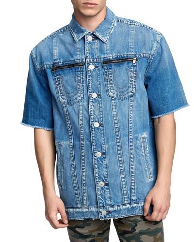 Men's Turner Short-Sleeve Denim Jacket