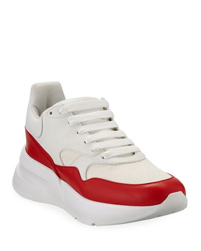 Men's Oversized Leather Runner Sneakers