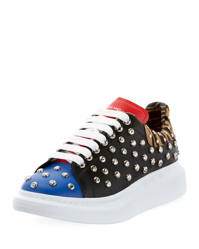Men's Studded Thick-Sole Low-Top Sneakers