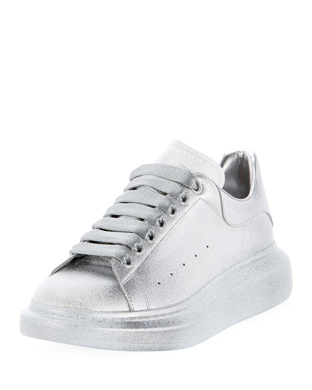 d8790ff4a5edff Alexander McQueen Men s Oversized Tonal Metallic Leather Sneakers ...
