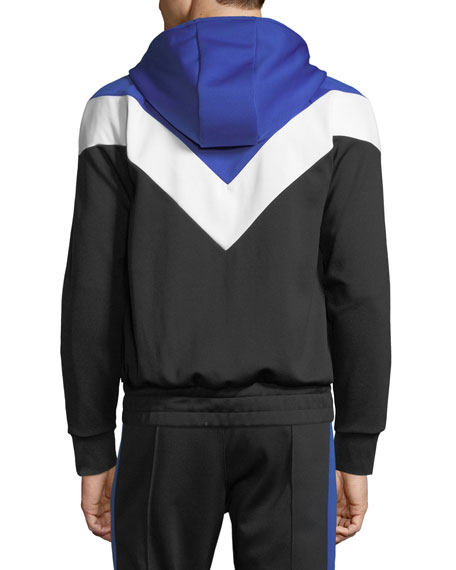 Men's Colorblock Zip-Front Hoodie