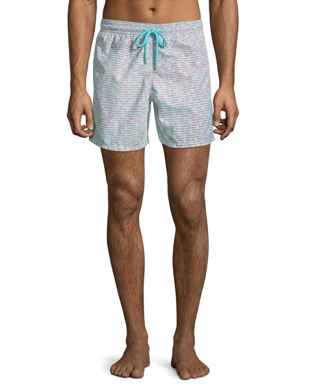 Vilebrequin Men's Modernist Fish Swim Trunks