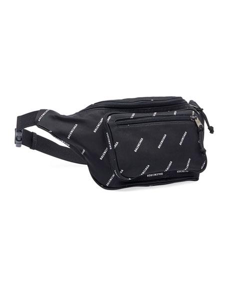 Logo-Print Nylon Belt Bag