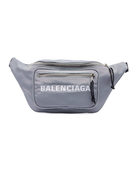 Wheel Canvas Belt Fanny Pack Bag with Logo