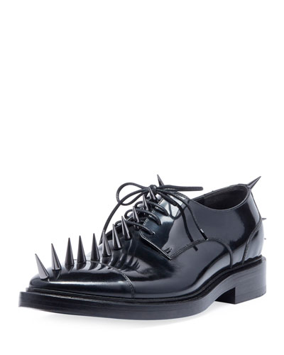 Men's Spiked Lace-Up Derby Shoes