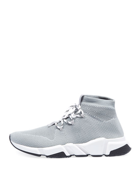 Men's Speed Lace-Up Mesh Sneakers, Gray