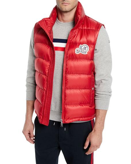 Moncler Men's Gers Zip-Front Puffer Vest