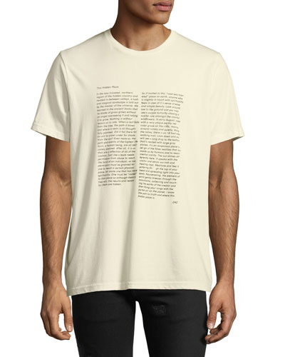 Men's The Hidden Place Typographic T-Shirt