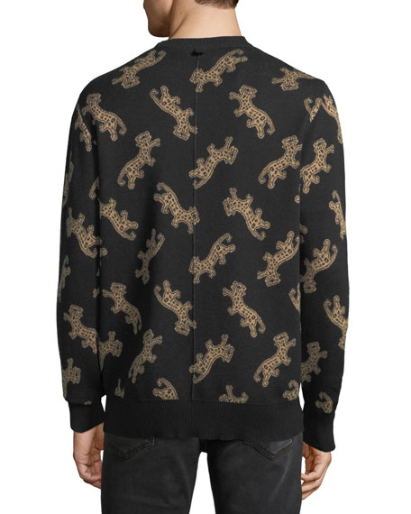Men's Leopard Jacquard Sweater
