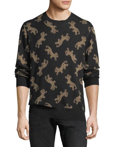 Men's Leopard Jacquard Sweater