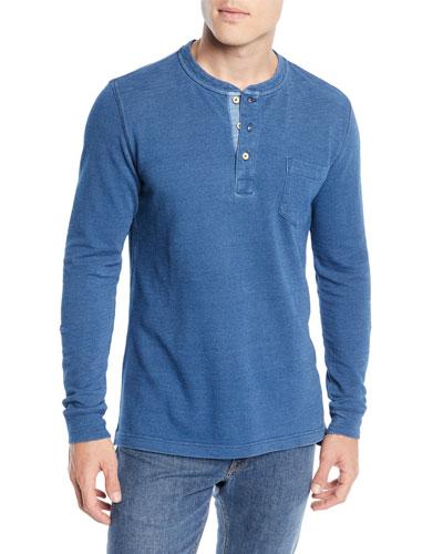 Seaside Cotton Henley Shirt
