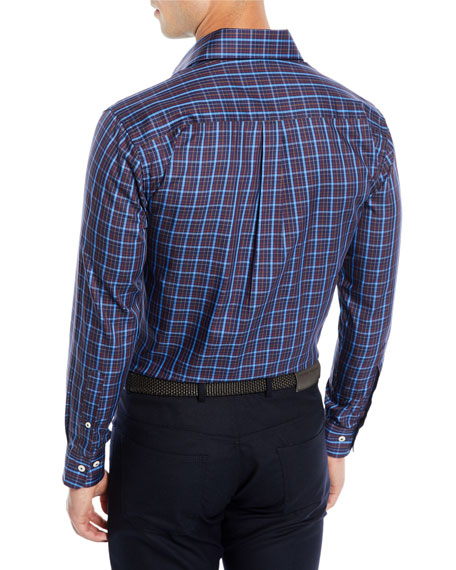 Men's Quarry Falls Plaid Cotton/Silk Sport Shirt