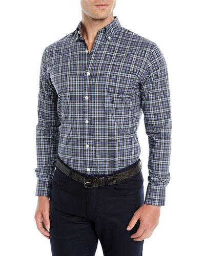 Men's Acadia Tartan Plaid Sport Shirt