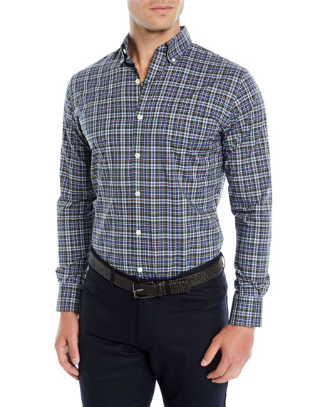 Peter Millar Men's Acadia Tartan Plaid Sport Shirt
