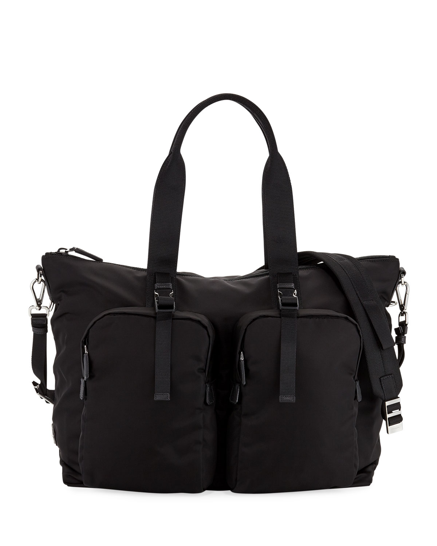 c5f3d719a23f Prada Men's Tessuto Montagna Duffel Bag with Strap | Neiman Marcus