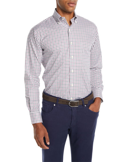Peter Millar Men's Malta Tattersall Sport Shirt