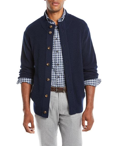 Peter Millar Men's Button-Front Wool-Blend Cardigan