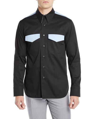 Men's Two-Tone Wool Western Shirt