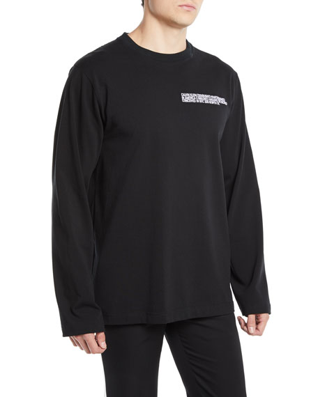 CALVIN KLEIN 205W39NYC Men's Logo Graphic Long-Sleeve T-Shirt