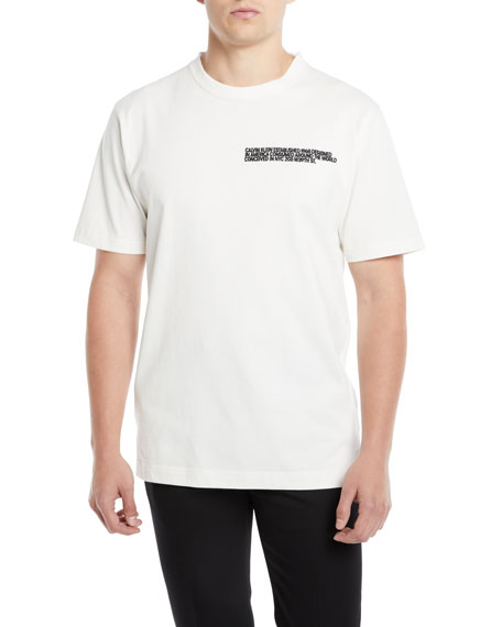 CALVIN KLEIN 205W39NYC Men's Block Logo T-Shirt