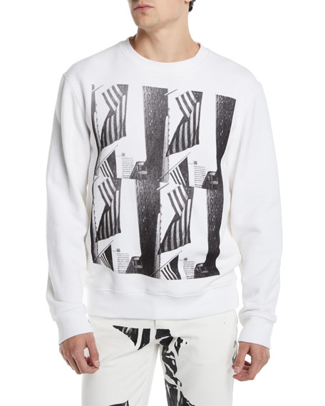 CALVIN KLEIN 205W39NYC Men's Flags Graphic Sweatshirt