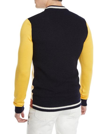 Men's Colorblocked Wool-Blend Sweater