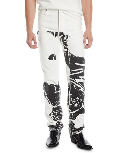 Men's Graphic Straight-Leg Jeans