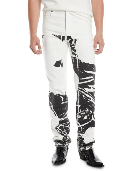 Men's Graphic Straight-Leg Jeans