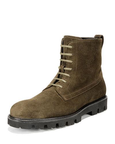 Men's Commander Lace-Up Suede Boots