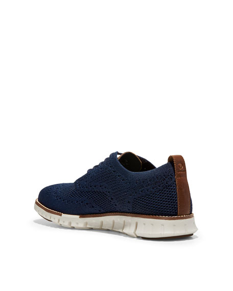 Men's ZeroGrand Knit Wing-Tip Oxford