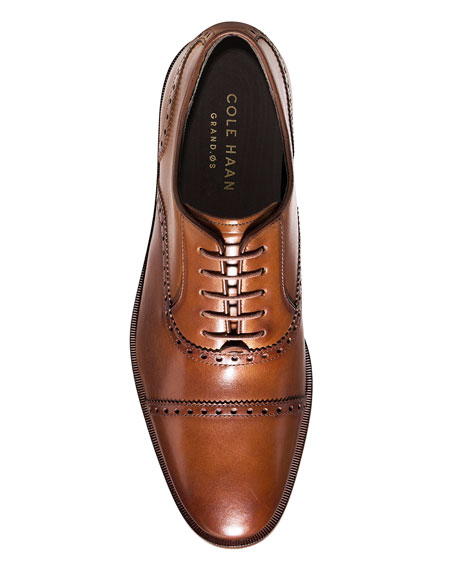 Hamilton Grand Cap-Toe Leather Oxford