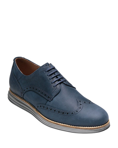 Gentleman/Lady Cole Cole Cole Haan Men's Original Grand Nubuck Wing-Tip Oxford   Nice 17ebd1