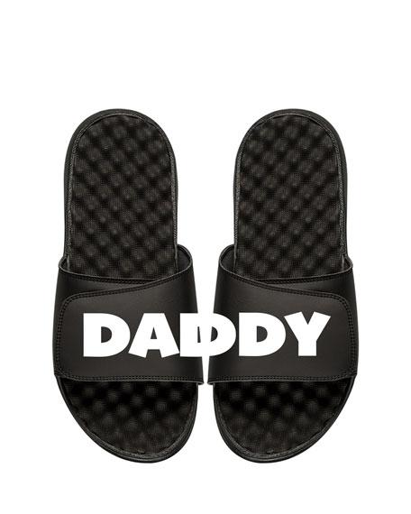 ISLIDE Men'S Daddy Slide Sandal in Black