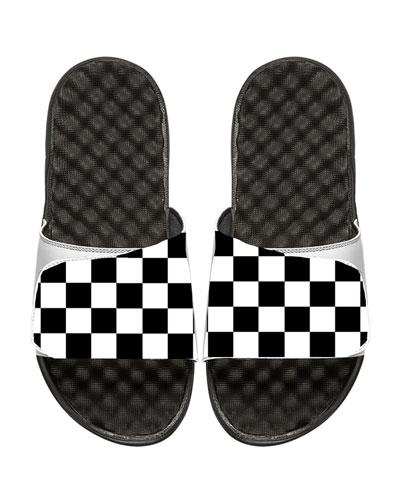 Men's Checkered Slide Sandal