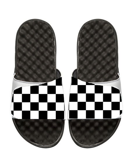 Men's Checkered Slide Sandal