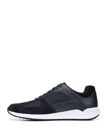 Men's Griffin Leather-Trim Canvas Sneakers