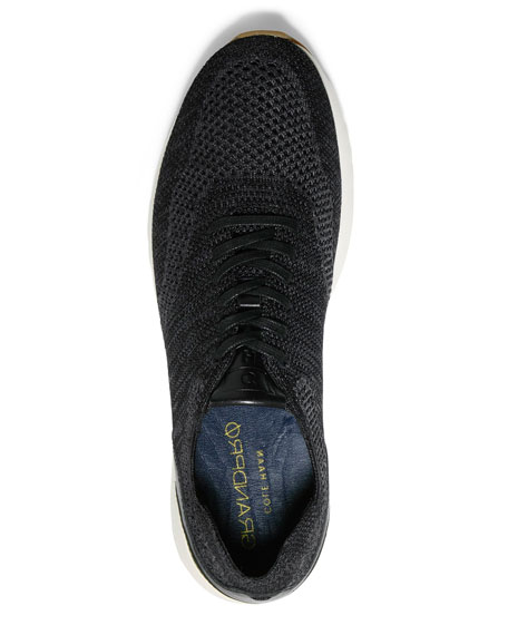 Men's GrandPro Knit Runner Sneakers, Black